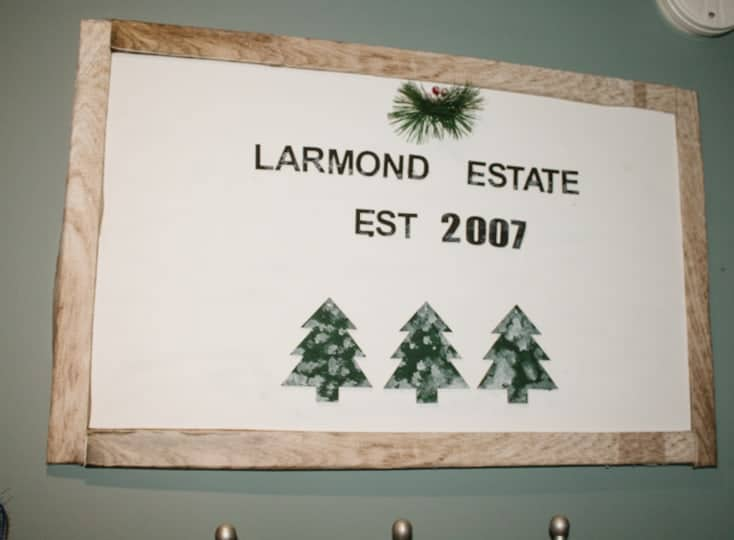 christmas tree sign diy project