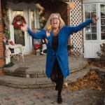 royal blue cardigan and wedge boots from skechers