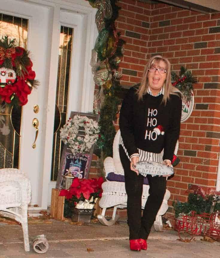 hohoho sweater and shoe dazzle