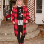 red check coat and shoe dazzle boots