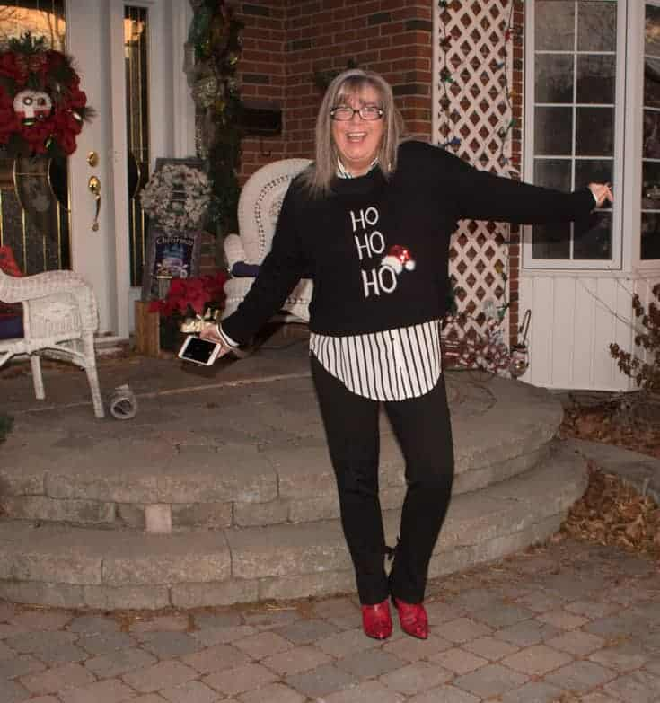 hohoho sweater and shoe dazzle boots