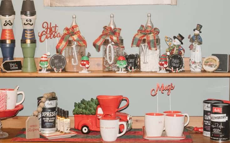 my personal melitta christmas coffee bar set up