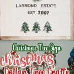 christmas tree sign on the wall