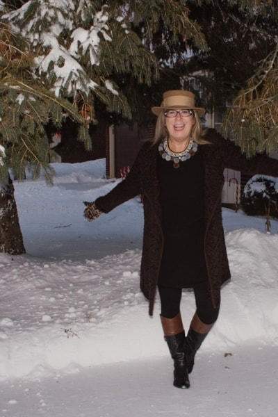 Brown Tweed Sweater and 260th linkup