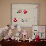 Valentines Day Mantle decor-2