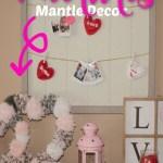 pink mantle decor