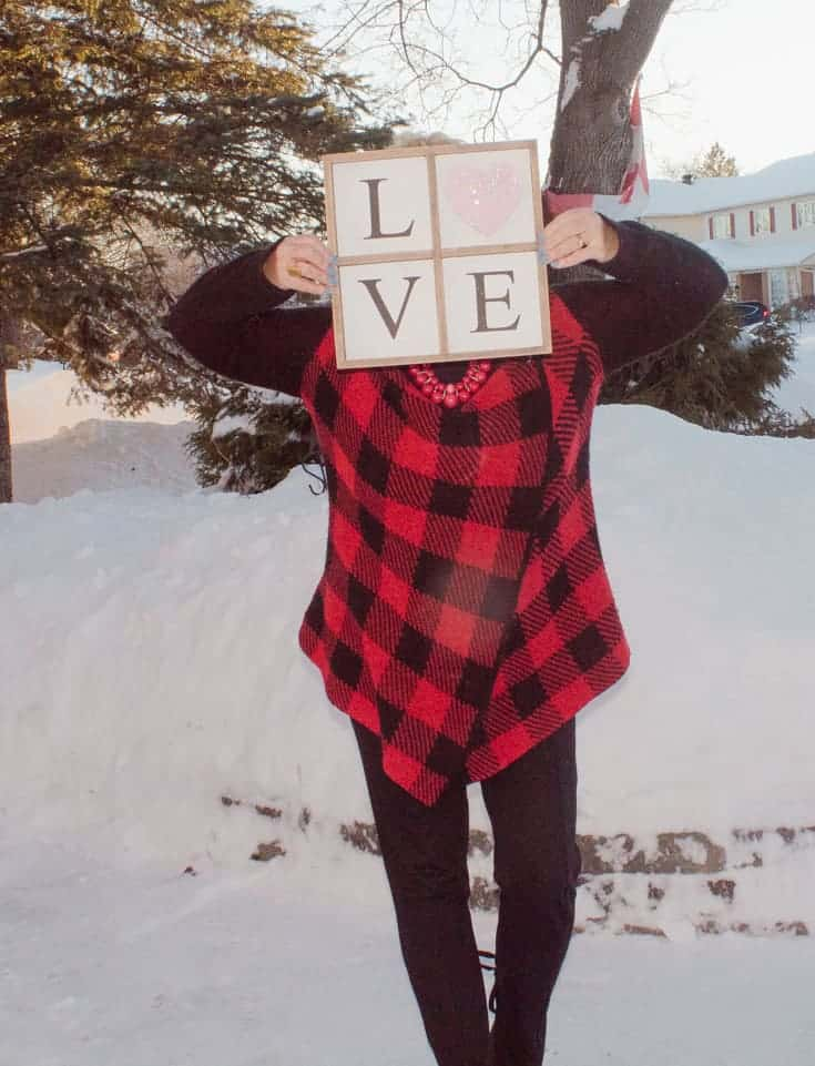 love and buffalo plaid