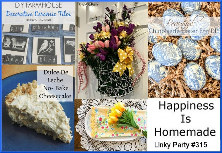 Happiness is Homemade, Link Party #315 Features