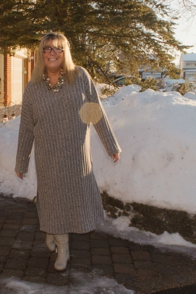Eva Trends Grey Sweater Dress and Quarantine