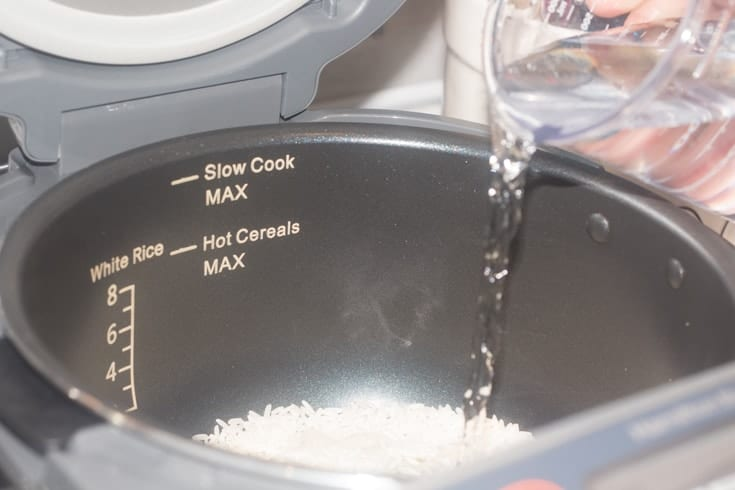 rice in the Hamilton Beach Rice Cooker 2