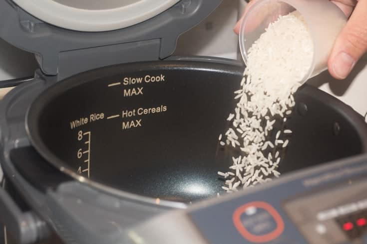 rice in the Hamilton Beach Rice Cooker