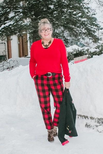 February Flashback in Buffalo Plaid Pants