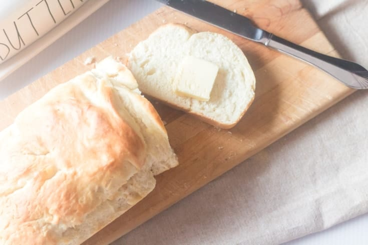overhead of baked bread