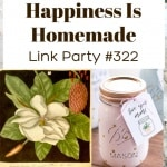 Happiness is Homemade Link Party #322