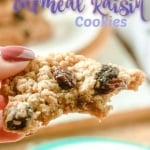 oatmeal raisin cookies with a bite