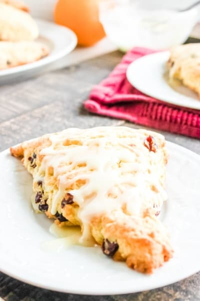 Homemade Orange Cranberry Scones