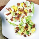wedge salad on a plate