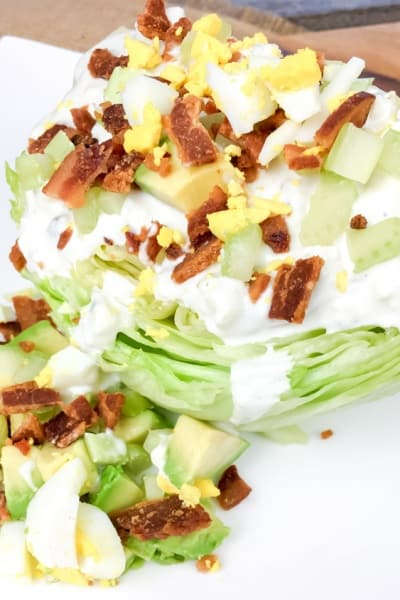 Easy Wedge Salad with Homemade Blue Cheese Dressing