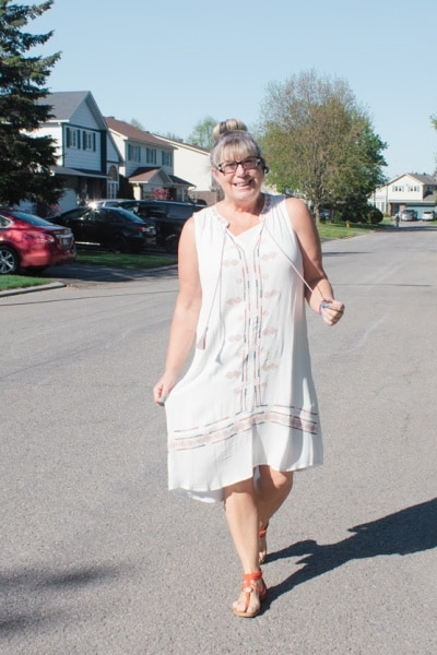 Target white dress and Linkup