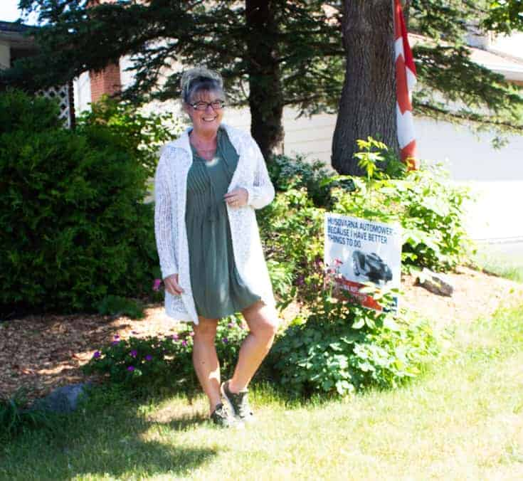 summer ceebrtaion in an old navy dress