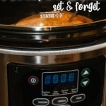 slow cooker and a chicken