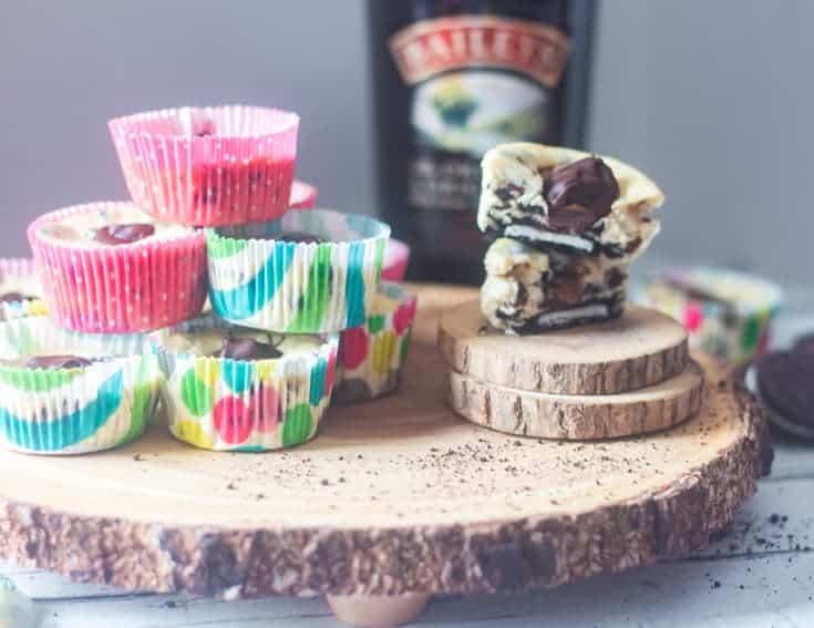 mini baileys cheesecakes with oreos