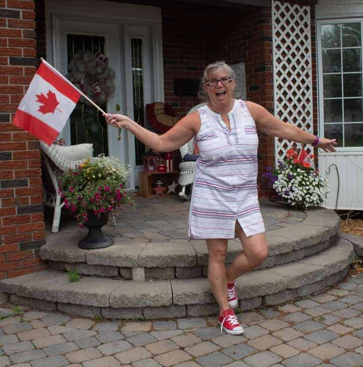red converse and canada day