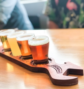 beer flight at broadway