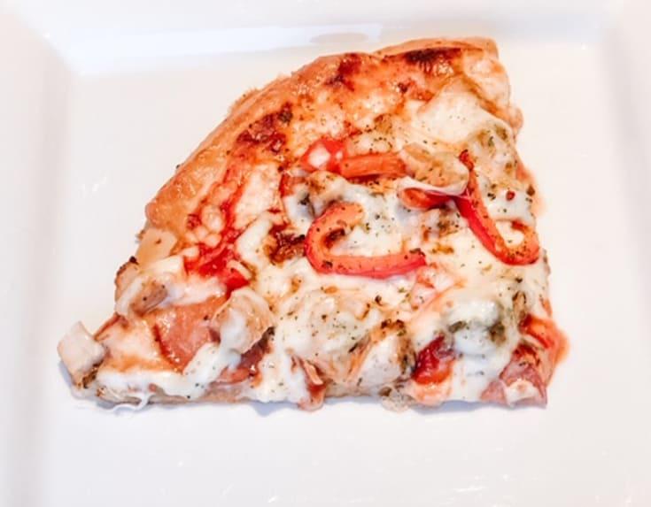 fresh pizza slice