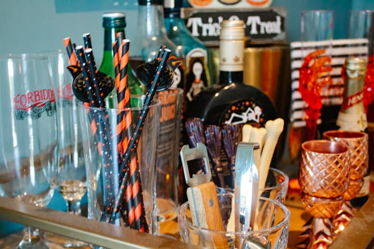 straws on the barcart