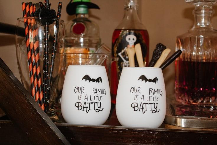 wine goblets for halloween