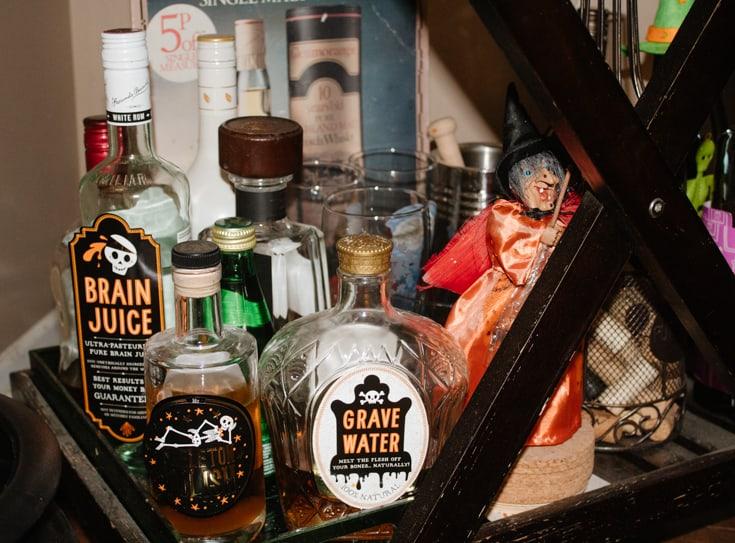 spooky spirits on barcart