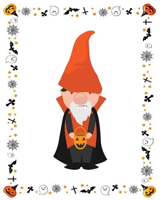 Halloween-Vampire-Gnome printable