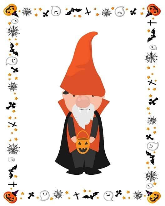 Halloween-Vampire-Gnome printable
