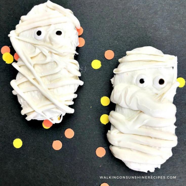 nutter butter mummy cookies