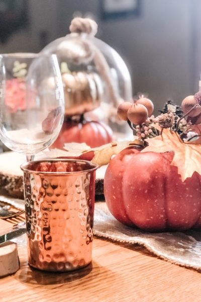 A Fall Table with Burlap