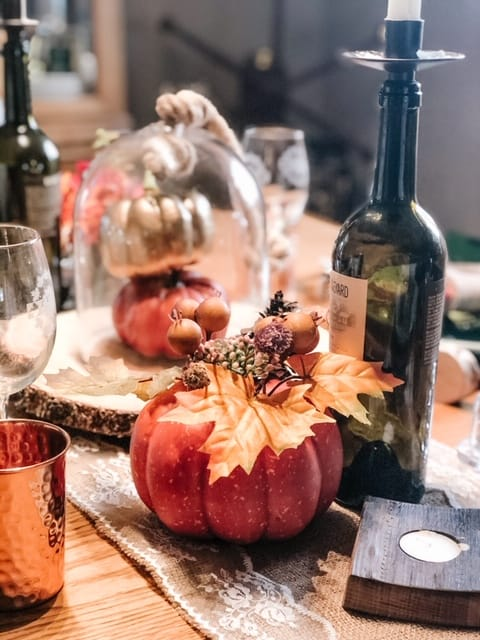 pumpkins on a fall table