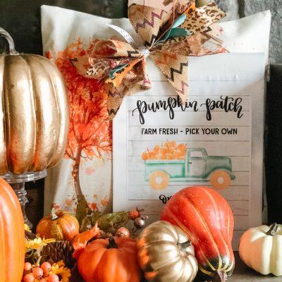 teal pumpkin patch truck sign