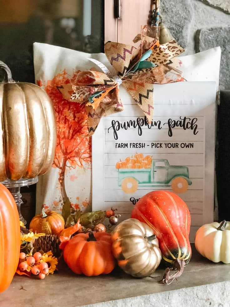 teal pumpkin patch truck sign