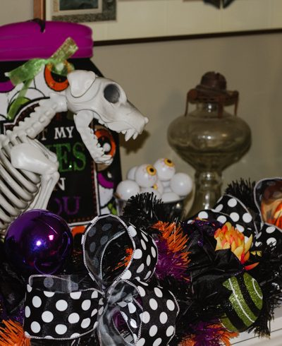 Skeleton Animal Halloween Mantle