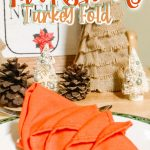 turkey napkins for the holidays on a plate