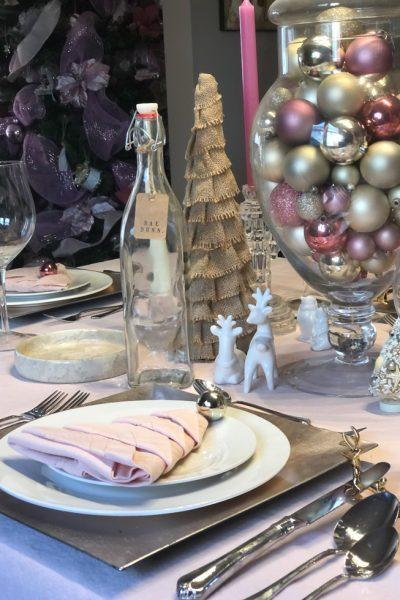 Non Traditional Pink Christmas Table