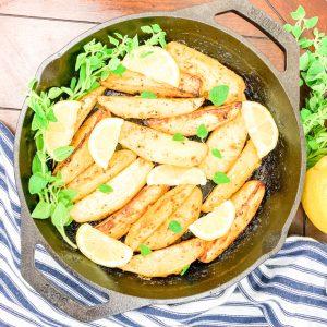 skillet potatoes with lemon