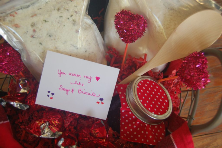 valentines basket of treats