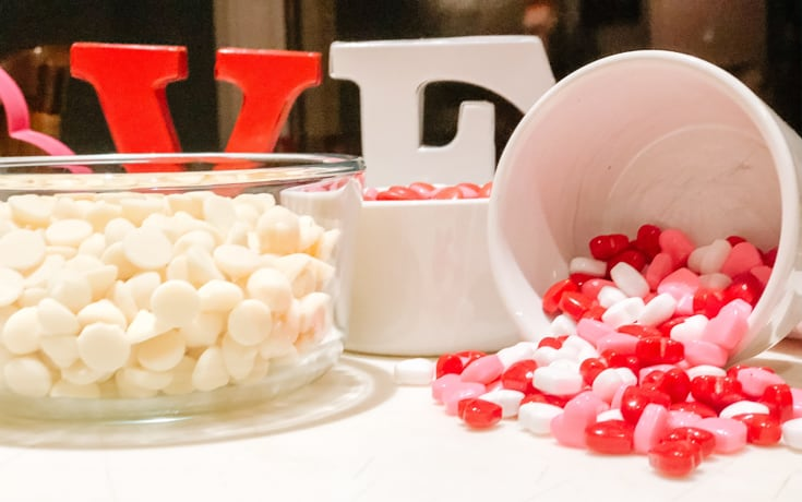 ingredients for valentines fudge