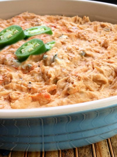 Crockpot Spicy Buffalo Chicken Dip