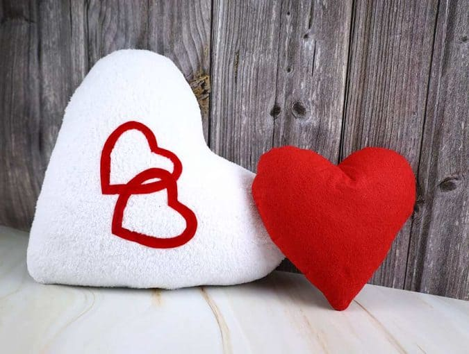 handmade heart pillow