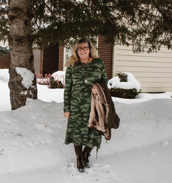 camo tee dress from old navy