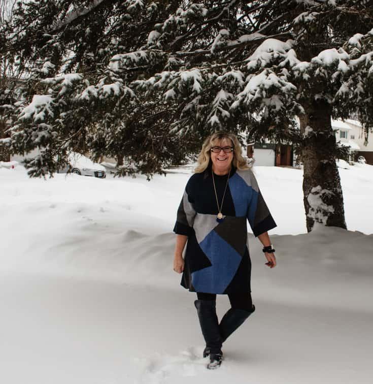 winter style in blue