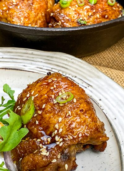 Spicy Honey Garlic Chicken Thighs